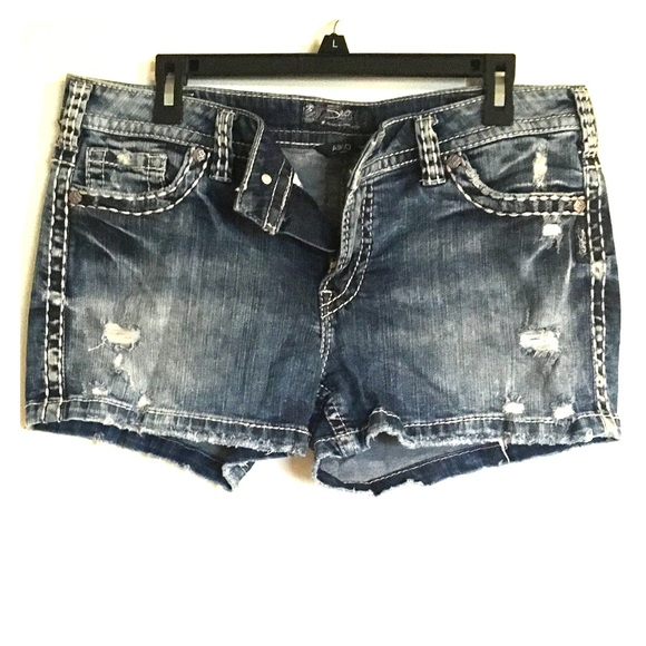 Silver Jeans Shorts Silver Jean Co Aiko Mid Short W34l3 Poshmark